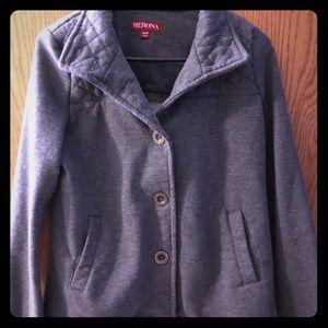 Merona Grey Women's Sweater Pea Coat - Medium